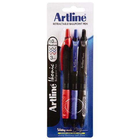 Artline Ikonic 1.0mm Med Assorted 3 Pack