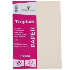 Trophee Paper 80gsm 30 Pack Cream A4