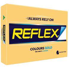 Reflex Reflex Paper 80gsm Tints 500 Pack Gold A4