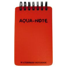 Aqua Notebook 75 x 115mm Waterproof 50 Leaf Red