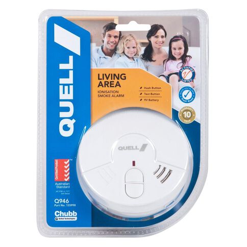 Quell Ionisation Smoke Alarm With Hush White