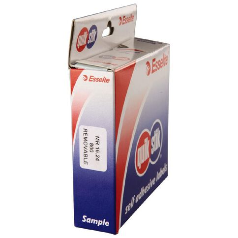 Quik Stik Labels Mr1624 16mm x 24mm 800 Pack White