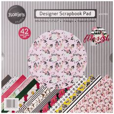Rosie's Studio Flourish Designer Papers 42 Sheets Pad 12in x 12in
