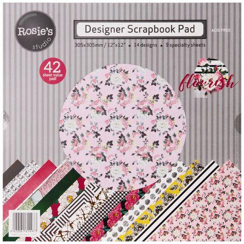 Rosie's Studio Flourish Designer Papers 42 Sheets Pad 12in x 12in