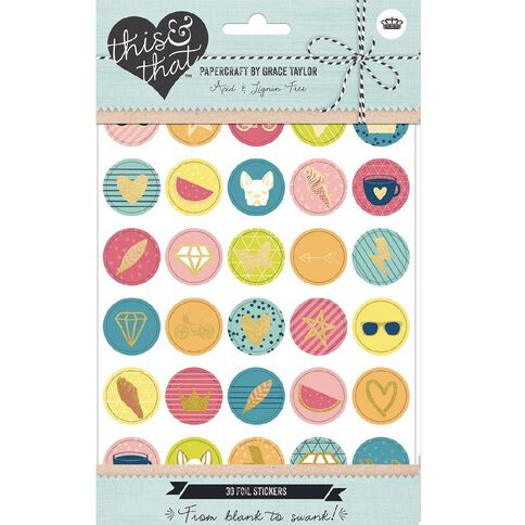 Grace Taylor This and That Self Adhesive Foil Envelope Seals 30 Pack