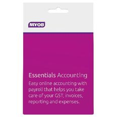 Myob Essentials Accounting 12 Month Activation Card