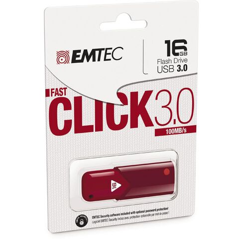 Emtec Usb3.0 B100 16Gb Red