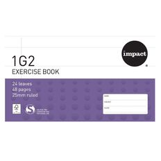 Exercise Book 1G2 25mm 24 Leaf Purple