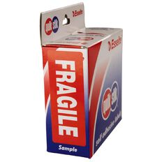 Quik Stik Labels Fragile Permanent 90 Pack Red