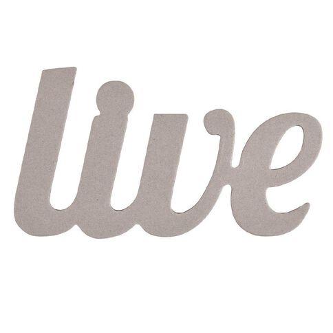 Rosie's Studio Chipboard Word Live 25cm x 14cm Multi-Coloured