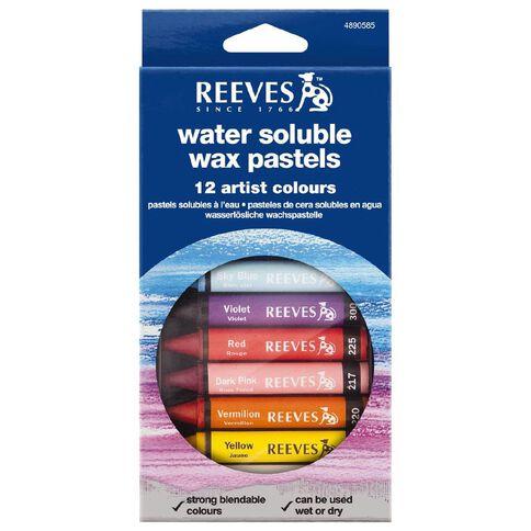 Reeves Water Soluble Wax Pastel 12 Pack