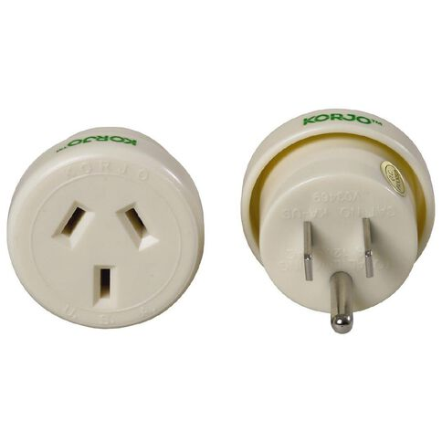 Korjo Korjo Travel Adaptor NZ Australia Reverse White