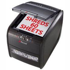 Rexel Shredder Auto+60 Autofeed Cross Cut Black