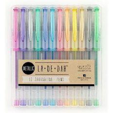 La De Dah Metallic Pens 12 Pack Multi-Coloured