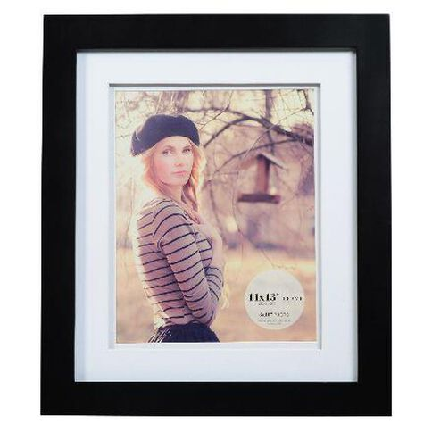Living 11 x 13 Photo Frame Black