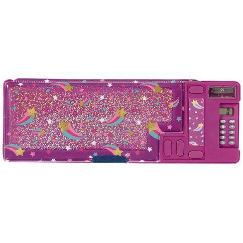 Kookie Star Popout Pencil Case Purple