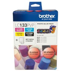 Brother Ink Cartridge LC133 Photo Value 4 Pack