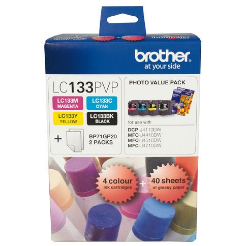 Brother Ink Cartridge LC133 Photo Value 4 Pack Multi-Coloured