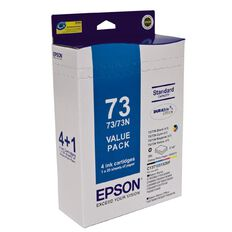 Epson Ink Cartridge 73N & Paper Pack Multi-Coloured