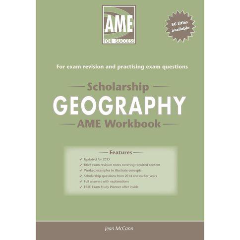 Ncea Year 13 Scholarship Geography Workbook
