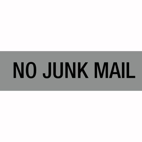 Alpi Self Adhesive No Junk Mail Silver