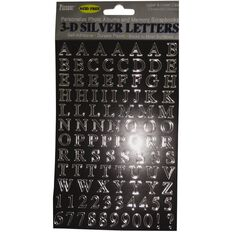 Pioneer Self Adhesive 3-Dimensional Letters Silver