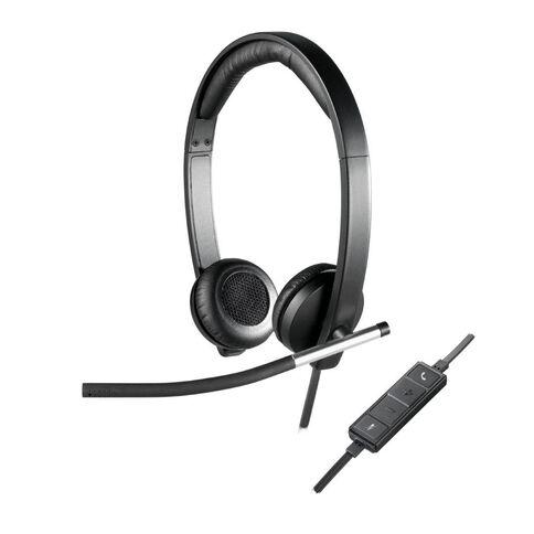 Logitech H650E USB Headset Stereo Black