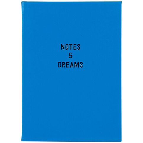 Paper Lane Faux Leather Notebook 90 Leaves Blue A5