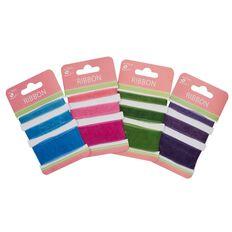 Little Birdie Organza Ribbon Blue Pink Green 3m Multi-Coloured