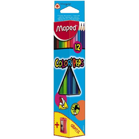 Maped 12 Colored Pencils And Sharpener