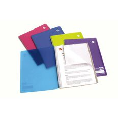 Notebook with 4 Plastic Pockets 120 Page A4