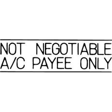 Xstamper Stamp Not Neg Ac Payee Black