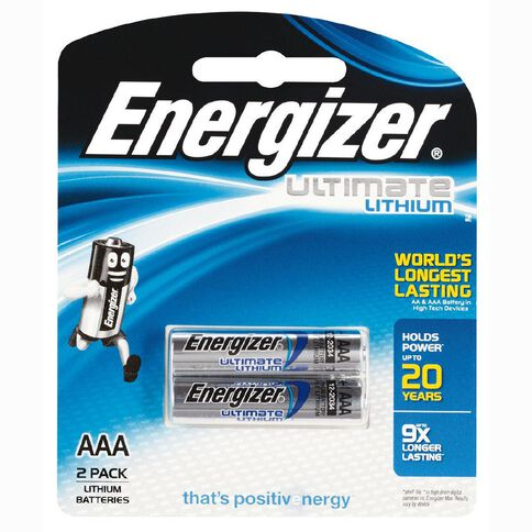 Energizer Ultimate Lithium Battery AAA 2 Pack