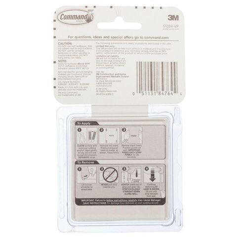 Command 17024-VP Poster Strips Value-Pack 48 Pack