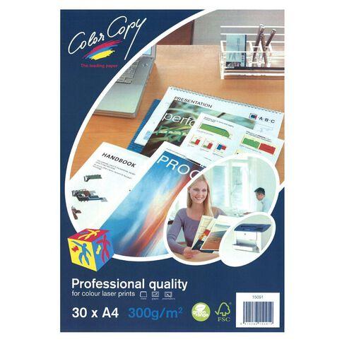 Color Copy Digital Laser 300gsm 30 Pack White A4