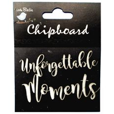 Little Birdie Chipboard Unforgettable Moments