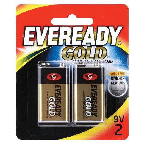 Battery Eveready Gold 9 Volt 2Pk