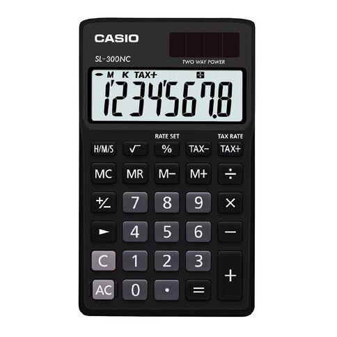 Casio Handheld Calculator SL300 Black