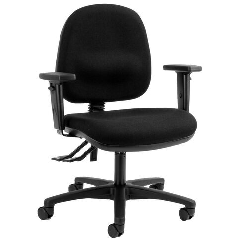 Dawell Aspen Midback Chair With Arms Black