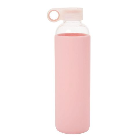 Uniti Glass Drink Bottle 700ml Pink