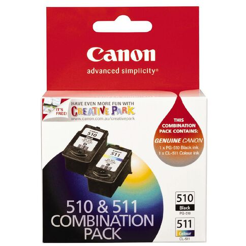Canon Ink Cartridge PG510 CL511 Combo Pack Multi-Coloured