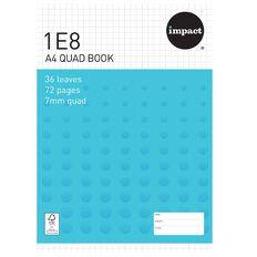 Warwick 1E8 Quad Exercise Book Blue