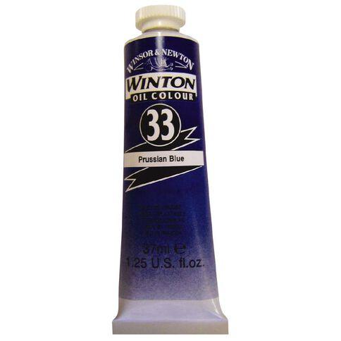 Winton Oil Paint 37ml Prussian Blue