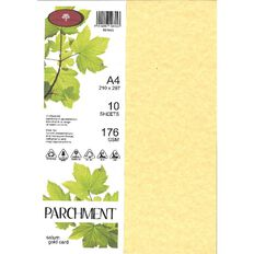 Parchment Card 176gsm 10 Pack Saturn Gold A4
