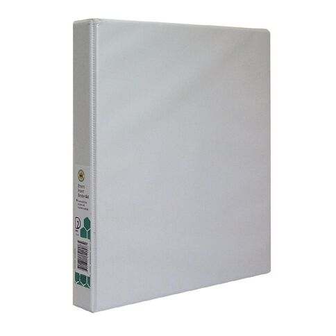 Marbig Ringbinder Overlay 25mm 2D Ring White A4