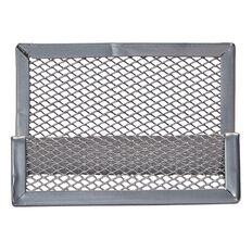 Impact Mesh Business Card Holder Pewter Multi-Coloured