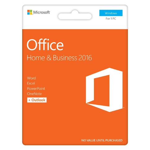Microsoft Office Home & Business 2016 Activation Card