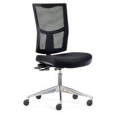 Chairmaster Urban Mesh Chair Alloy Base Black
