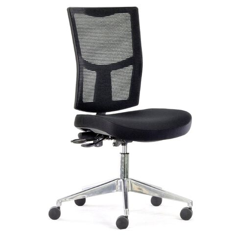 Chairmaster Urban Mesh Chair Alloy Base Black
