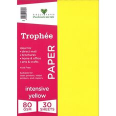 Trophee Paper 80gsm 30 Pack Intensive Yellow A4